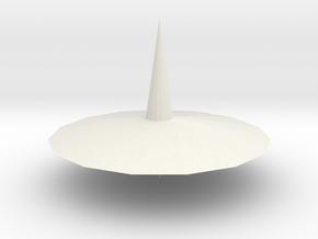Spinning top PT v4 in White Natural Versatile Plastic