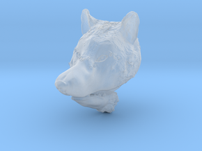 Pendant for ring(Wolf) in Smooth Fine Detail Plastic