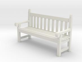 SE scale Hyde Park Bench in White Natural Versatile Plastic
