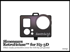 Simensays RetroHouse™ Cover for DJI H3-3D gimbal  in Black Natural Versatile Plastic