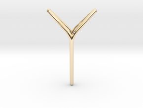 YOUNIVERSAL Fine Pendant. Soft Elegance in 14k Gold Plated Brass