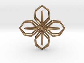 A-LINE Blossom, Pendant in Natural Brass