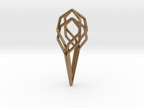 A-LINE Honeyunion, Pendant. Pure Elegance in Natural Brass