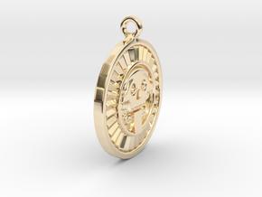 Mictlantecuhtli in 14k Gold Plated Brass