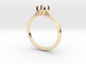 Solitaire in 14k Gold Plated Brass