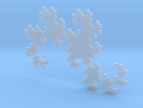 Heighway's Dragon Curve (6x4) in Smooth Fine Detail Plastic