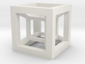 4D Hypercube in White Strong & Flexible