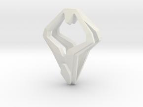 HEAD TO HEAD Unic, Pendant in White Natural Versatile Plastic