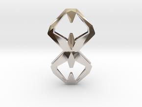 Sharp Union, Pendant. Sharp Chic  in Rhodium Plated Brass