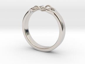 Roots Ring (18mm / 0,7inch inner diameter) in Rhodium Plated Brass