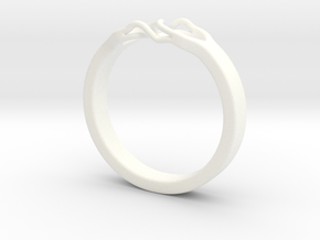 Roots Ring (18mm / 0,7inch inner diameter) in White Processed Versatile Plastic
