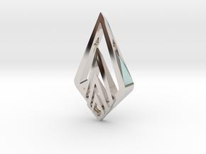 """Hidden Heart"" SHINE, pendant in Rhodium Plated Brass"