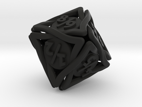 'Twined' Dice D8 Spindown Tarmogoyf P/T Die in Black Natural Versatile Plastic