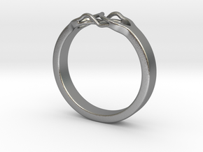 Roots Ring (20mm / 0,78inch inner diameter) in Natural Silver