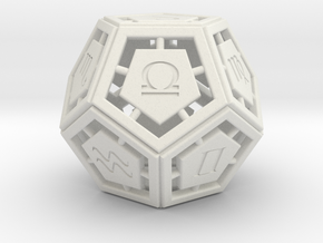 DODECA-ZODIAC (figurine) in White Strong & Flexible