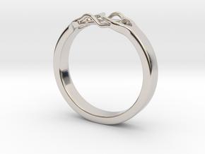 Roots Ring (21mm / 0,82inch inner diameter) in Platinum