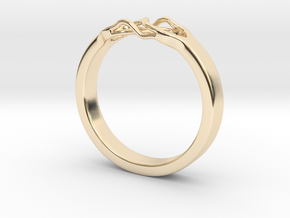 Roots Ring (22mm / 0,86inch inner diameter) in 14k Gold Plated Brass