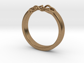 Roots Ring (23mm / 0,9inch inner diameter) in Natural Brass