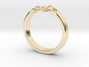 Roots Ring (23mm / 0,9inch inner diameter) in 14k Gold Plated Brass