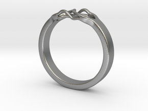 Roots Ring (28mm / 1,1inch inner diameter) in Natural Silver