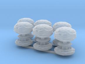 Mushroom Cloud x6 in Smooth Fine Detail Plastic
