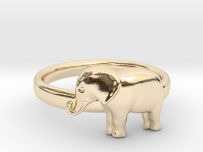 Elephant Ring in 14K Yellow Gold