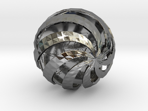 ZWOOKY Style 3411  -  Sphere in Fine Detail Polished Silver