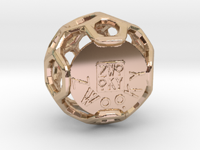 ZWOOKY Style 3409  -  Sphere in 14k Rose Gold Plated Brass