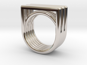 EQUAL 2  in Rhodium Plated Brass: 7 / 54
