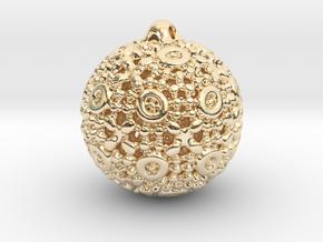 PA Ball D12Se76u1v1a10f Wax in 14k Gold Plated Brass
