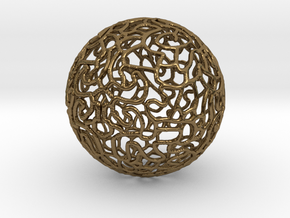 Ornament Ball in Polished Bronze
