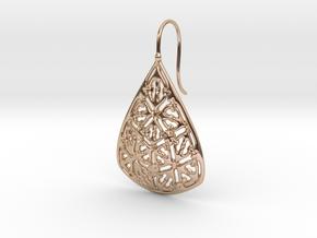 PA Earrings  Ef002Se74U22H25a05 in 14k Rose Gold Plated Brass