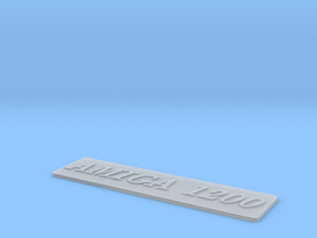 A1200 Case Badge Amiga in Smooth Fine Detail Plastic