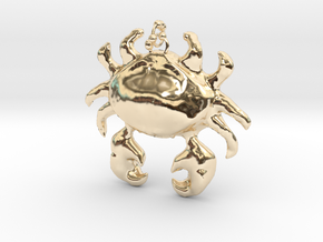 Crab Necklace in 14k Gold Plated Brass