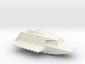 Skyfighter in Flight (V, The Visitors) in White Natural Versatile Plastic: 1:87