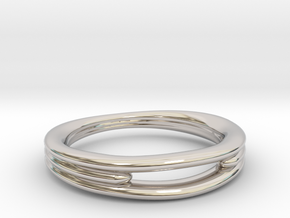 Tres 1 in Rhodium Plated Brass