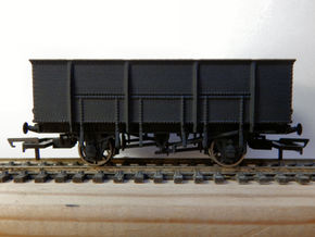 GWR N28 21T Mineral Wagon Body (00)  in White Strong & Flexible Polished