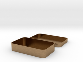 Parametric Rounded Box in Natural Brass