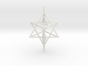 Merkaba Spinner DNA - 6cm in White Natural Versatile Plastic