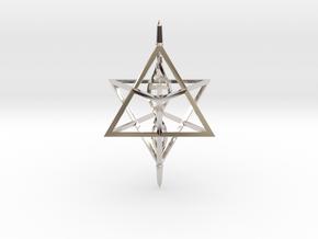 Merkaba Spinner DNA - 6cm in Platinum