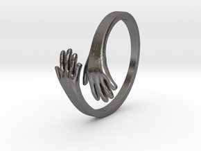 Hand Ring in Polished Nickel Steel