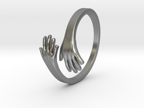 Hand Ring in Natural Silver