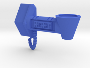 Battle Ram Standard Holder - Left-Hand in Blue Processed Versatile Plastic