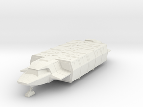 Shuttle (Large) Landed (V, The Visitors) in White Natural Versatile Plastic: 1:72