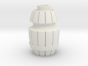 Danesi Designs Wood Barrel Star Post (Williams / S in White Natural Versatile Plastic