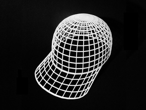 Vortex Hat - Extra Large in White Natural Versatile Plastic