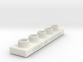 Sculpting Platforms-Quintuple Cap Hollow Block in White Natural Versatile Plastic