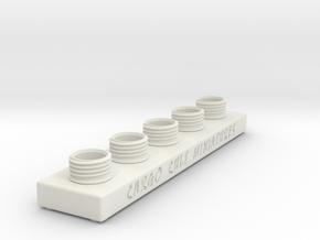 Sculpting Platforms-Quintuple Cap Hollow Block in White Strong & Flexible