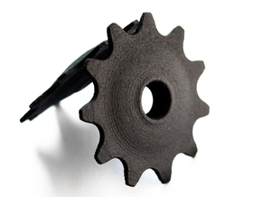 Pulley 11t for RD, hollow, flange (upper pulley) in Black Natural Versatile Plastic