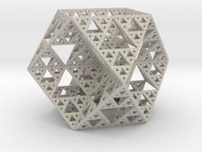 Sierpinski Cuboctahedron Fractal in Natural Sandstone